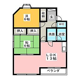 シャトレ乙川[2階]の間取り