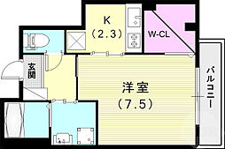 (仮)神戸市長田区二葉町マンション 1階1Kの間取り
