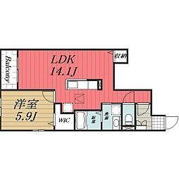 JR総武本線 八街駅 バス8分 文違野下車 徒歩2分の賃貸アパート 1階1LDKの間取り