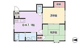 アークミヤシモA[1階]の間取り