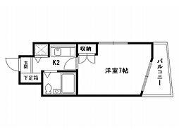 ジョイフル紫野[2階]の間取り