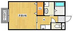 福岡県久留米市国分町の賃貸アパートの間取り