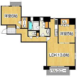 ジ・アーバネックス京都四条烏丸テラス[305号室]の間取り