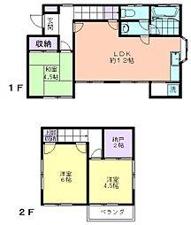 [一戸建] 東京都東大和市清水6丁目 の賃貸【/】の間取り