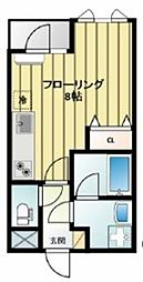 シュークル久米川[4階]の間取り