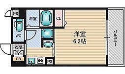 エステムコート新大阪6エキスプレイス[8階]の間取り