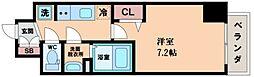 プレサンスOSAKA DOMECITY クロスティ 10階1Kの間取り