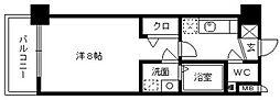 グランフォーレ桜坂ステーションプラザ[205号室]の間取り