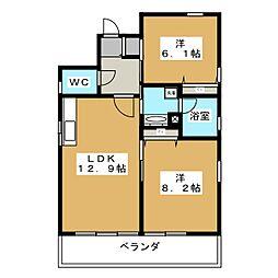 ウィステリア[4階]の間取り