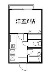 東京都町田市森野4丁目の賃貸アパートの間取り