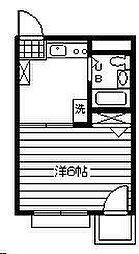 サンハイツ与野[2階]の間取り