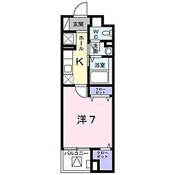 東京都八王子市松木の賃貸マンションの間取り