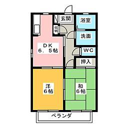 プレミール夢[2階]の間取り