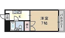大阪府大阪市此花区西九条6丁目の賃貸マンションの間取り
