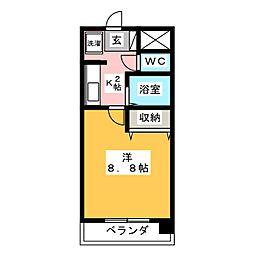 サンハイム寺田[2階]の間取り
