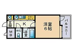 ピュアドーム大濠アクレーム[4階]の間取り