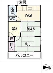 第2いずみ荘[2階]の間取り
