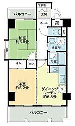 ライオンズマンション京都西陣[701号室号室]の間取り