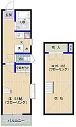 エムビル香椎駅東4[101号室]の間取り