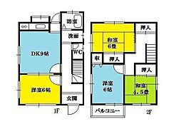 [一戸建] 神奈川県茅ヶ崎市萩園 の賃貸【/】の間取り