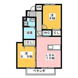 オペラハウス柳原B[1階]の間取り