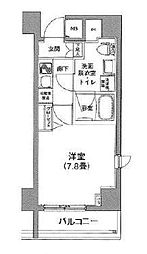 都営大江戸線 新御徒町駅 徒歩4分の賃貸マンション 8階1Kの間取り
