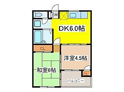 東京都府中市本町4丁目の賃貸マンションの間取り