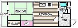 シャトー天満[6階]の間取り