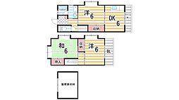 [テラスハウス] 大阪府東大阪市新庄3丁目 の賃貸【/】の間取り