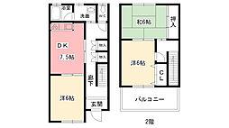 [テラスハウス] 兵庫県西宮市段上町8丁目 の賃貸【/】の間取り