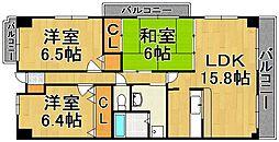 プレジール室見[3階]の間取り