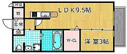 Lucia court 三矢[2階]の間取り