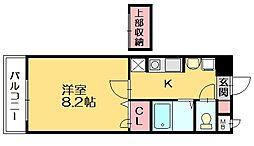 ジュネスパラシオン豊原[4階]の間取り