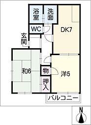 グリーンハウス花の木[1階]の間取り