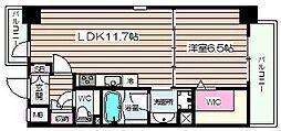 レジデンス西梅田[12階]の間取り