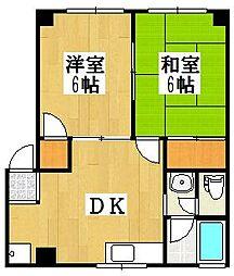 北久里浜第二パークマンション[101号室]の間取り