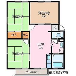 SUNVILLAGE島崎[2階]の間取り