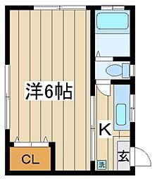東京都練馬区錦1丁目の賃貸マンションの間取り