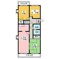 グランドメゾン勝川[1階]の間取り