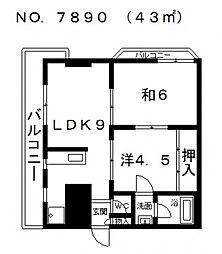 スエタカハビテーション[4階]の間取り