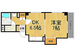 兵庫県西宮市高松町の賃貸マンションの間取り