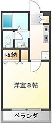 ドミトリオ仁王田[3階]の間取り
