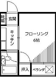 東京都新宿区新宿6丁目の賃貸アパートの間取り