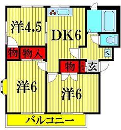 ノーブルマンション[302号室]の間取り