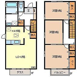 [タウンハウス] 長野県長野市三本柳東3丁目 の賃貸【/】の間取り
