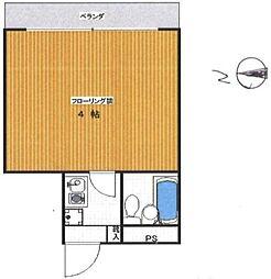 パレ・ドール渋谷神山町[202号室]の間取り