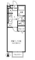 東京都江戸川区一之江7丁目の賃貸アパートの間取り
