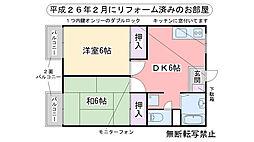 福岡県福岡市西区小戸3丁目の賃貸アパートの間取り
