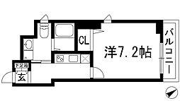 兵庫県宝塚市武庫川町の賃貸マンションの間取り