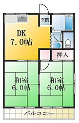 千葉県浦安市当代島3丁目の賃貸アパートの間取り